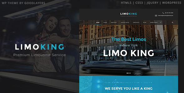 Limo King 1.05 Limousine / Transport / Car Hire Theme