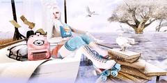 GIRL OF BLUE SKATES