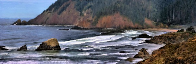 Oregon Beach Cove - Painting