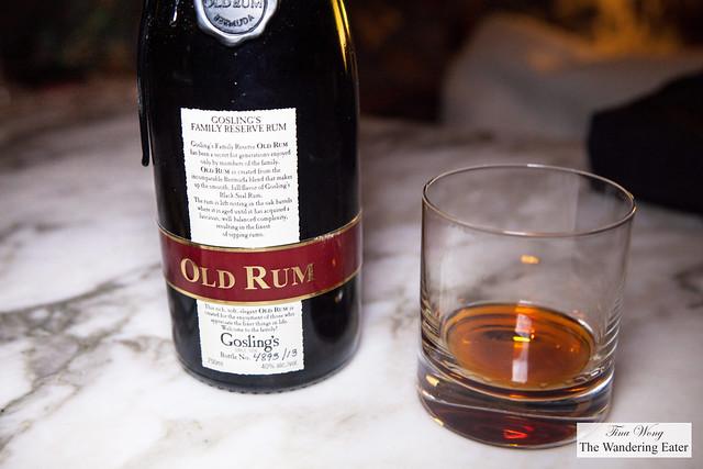 Rum tasting of Gosling's Family Resrve Old Rum