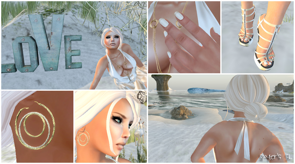 SL Outfit of the Day: Whispery Light Gold Champagne (Collage)