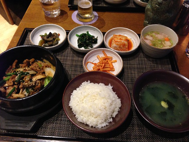 There's the Jeju black pork on the left
