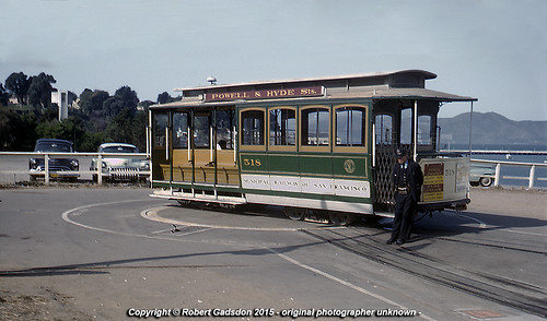 1958 - Car 518 at Aquatic Park..
