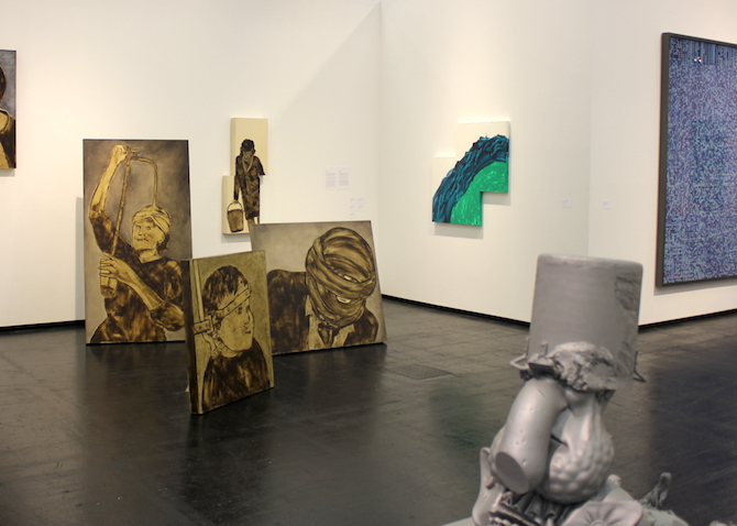 Ida Applebroorg and Paul McCarthy at booth Hauser and Wirth, Zurich, London, New York