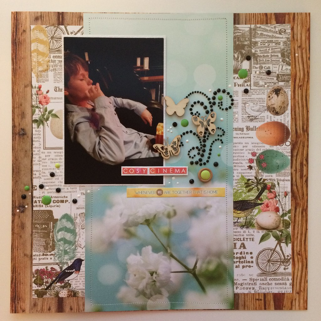 12x12 Scrapbook Layout Webster's Pages The Nest