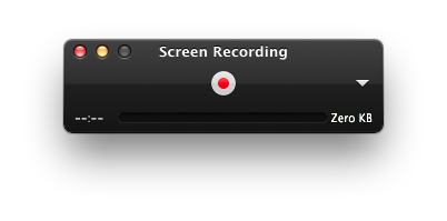 Quicktime Screen Recording Panel