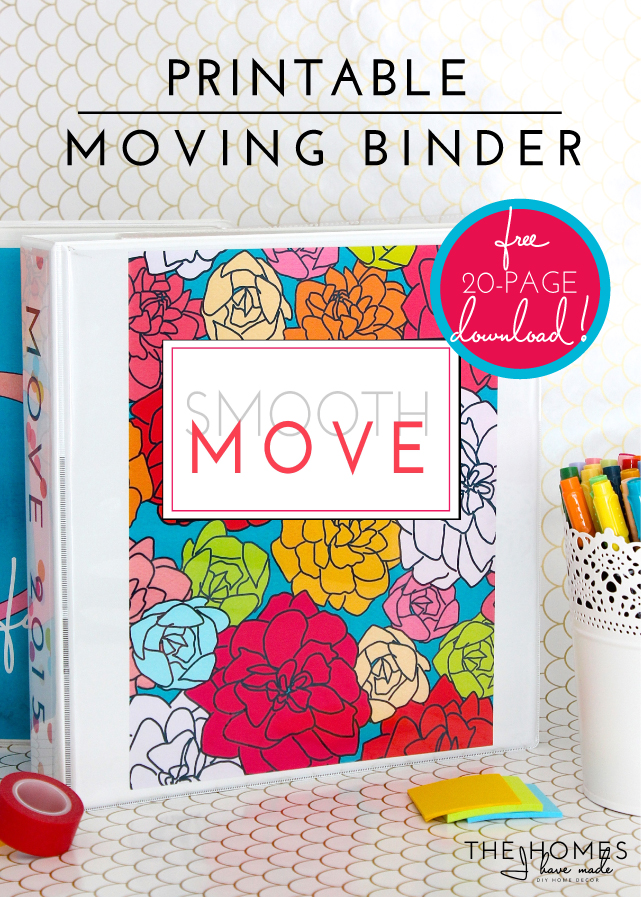photo relating to Stay Organized With a Printable Moving Checklist called Printable Comfortable Movement Binder Package (with Excel Spreadsheet