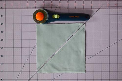 HSTs 5: Cut squares along drawn line