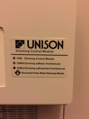 Unison Dimmer label at ICC