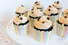 Devil Cupcakes with Choc Mousse Filling and PB Fro…
