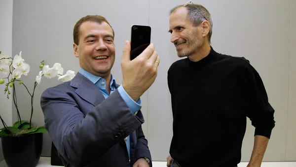 Медведев и Джобс