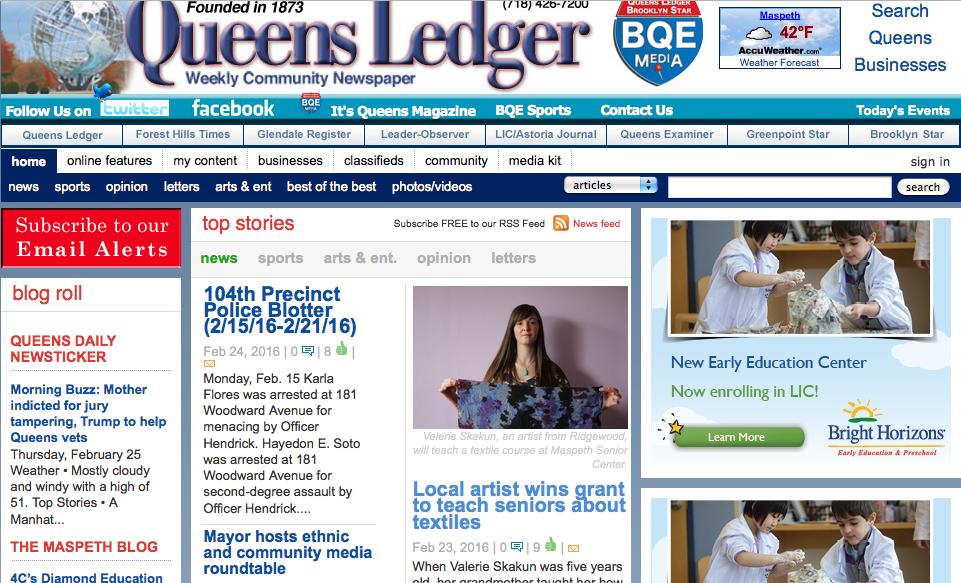 Queens Ledger Article
