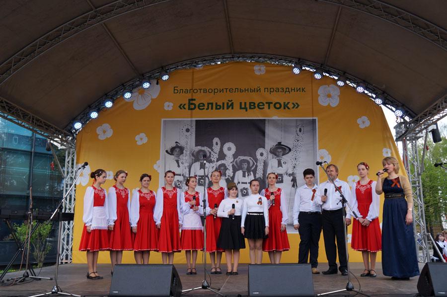 Воскресная школа храма св. прав. Симеона Верхотурского выступила на фестивале «Белый цветок»