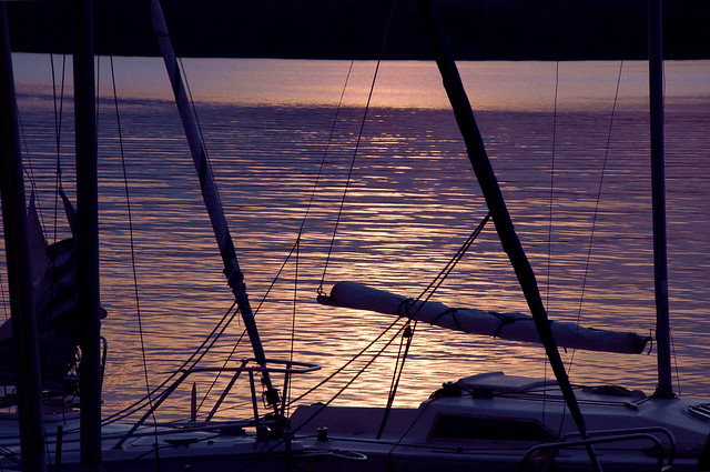 Sunset sail on a moonlit night