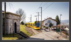Basel Tram Linie 10 in Leymen, 23. März 2015