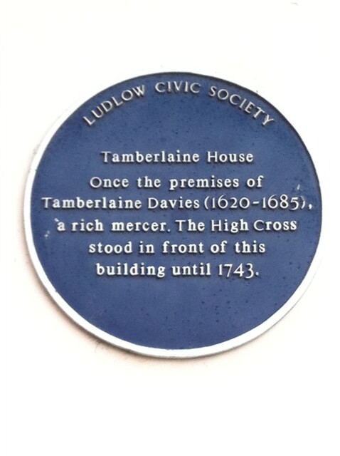 Photo of Tamberlaine Davies and High Cross, Ludlow blue plaque
