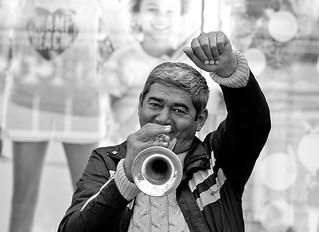 Trumpet on the street, Canterbury