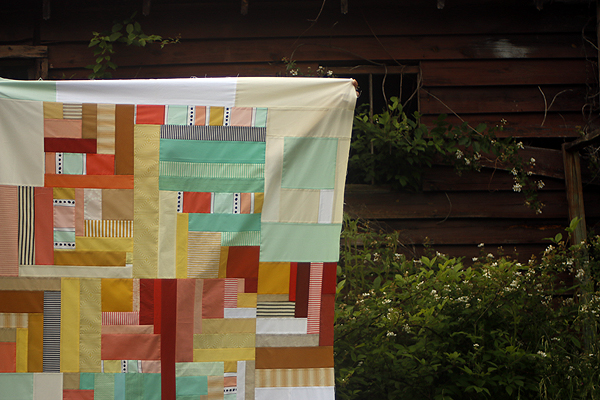 Ice Parfait quilt top
