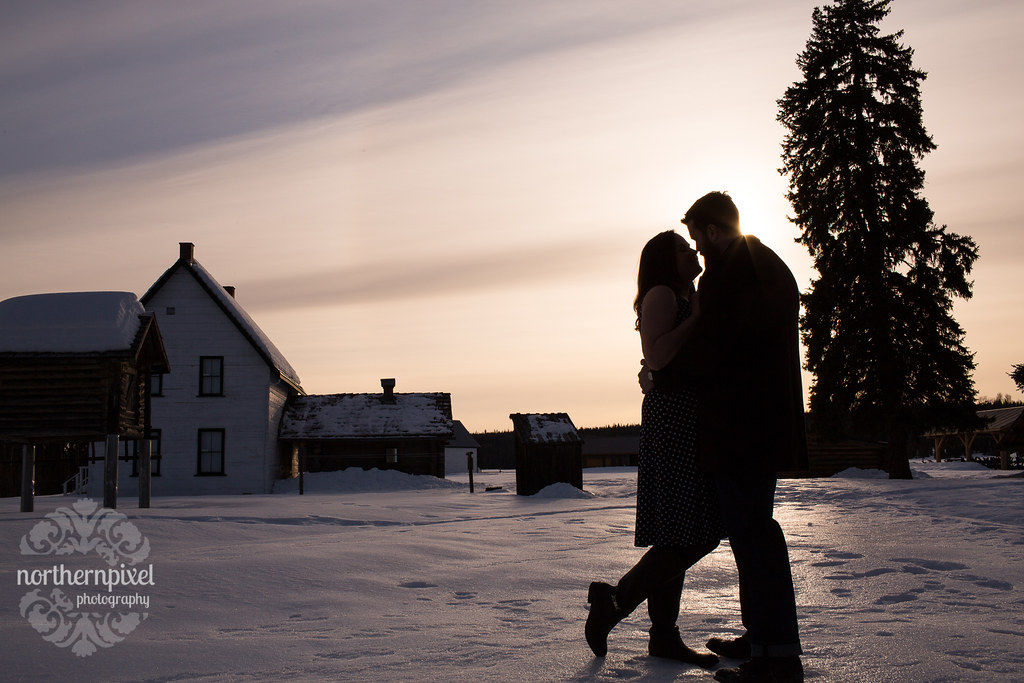 Huble Homestead Engagement Silhouette