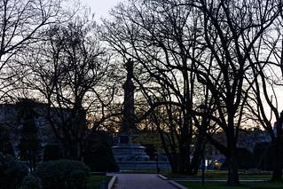 Image of Liberty Monument near Ruse. dusk rousse themonumentofliberty