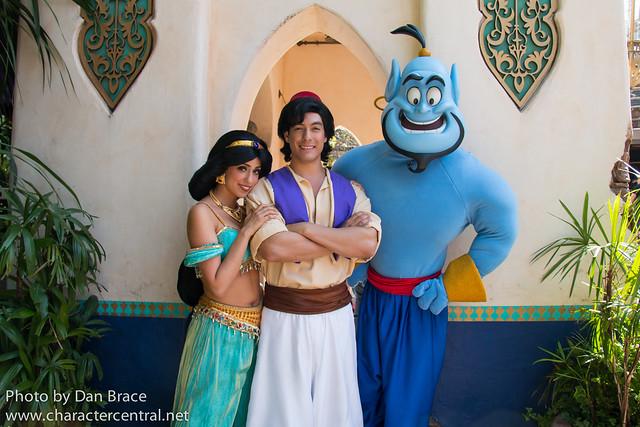 Aladdin, Jasmine and Genie