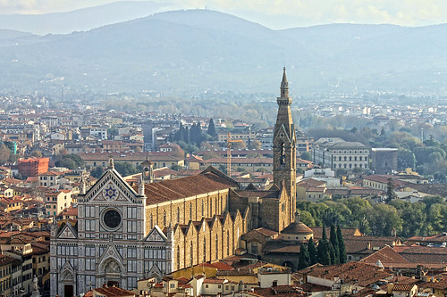 Florence cathedral high view
