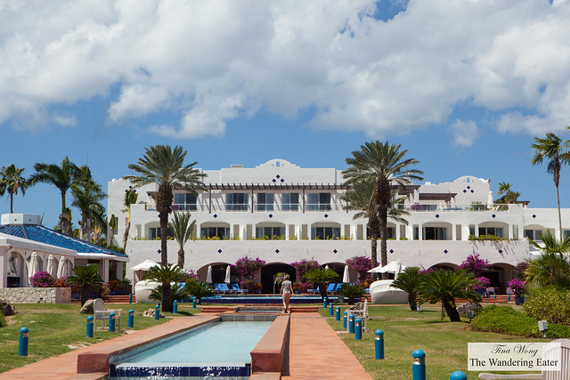 Looking at Cuisinart Resort from the beach and pool area