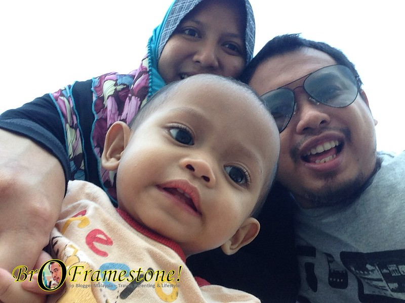Keluarga Bro Framestone, Iera Kan dan Baby Fisha - Swiss Garden Beach Resort Kuantan