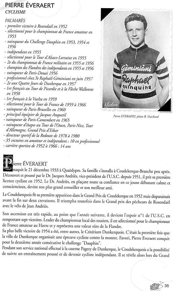 Pierre Everaert palmares