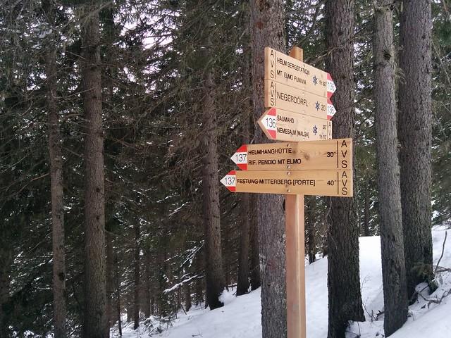 Rückweg über die Helmhanghütte und Festung Mitterberg Weg Nr. 137