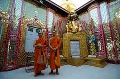 two Thai monks Sutaungpyei Pagoda, Mandalay hill
