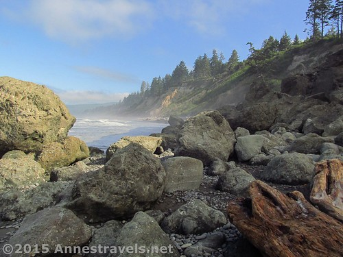 The mist clears away from Ruby Beach, Olympic National Park, Washington