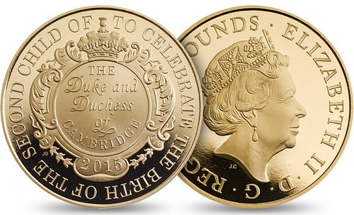 2015 Royal Birth gold coin