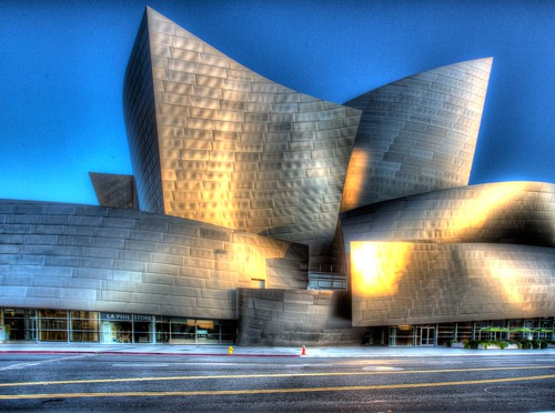 california architecture sunrise hall losangeles concert disney hdr