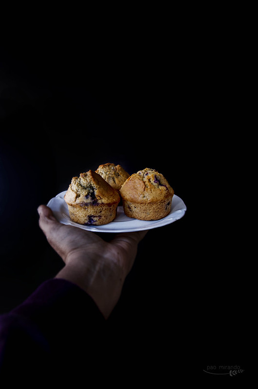 Blue and black berries muffins 2