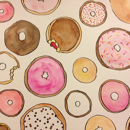 More #donuts. #watercolor #wip