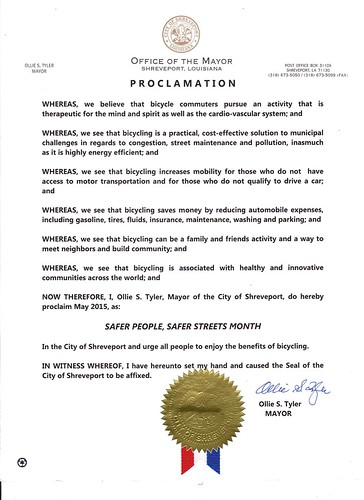 Bicycle Month in Shreveport