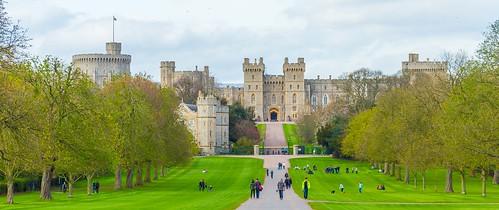 Windsor Castle, Berkshire, from the Long Walk