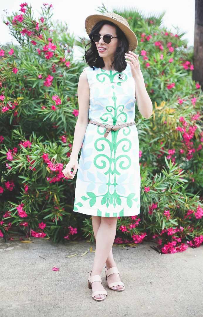 austin style blog, tory burch dress