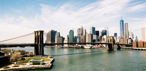 Вид на Манхеттен со стороны Бруклина. NYC Skyline. New York. USA