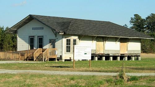 railroad abandoned station train geotagged northcarolina trainstation depot renovation railroaddepot relocated maysville jonescounty