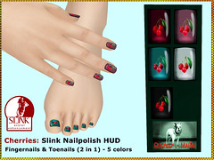 Bliensen - Cherries - Slink Nailpolish HUD Kopie