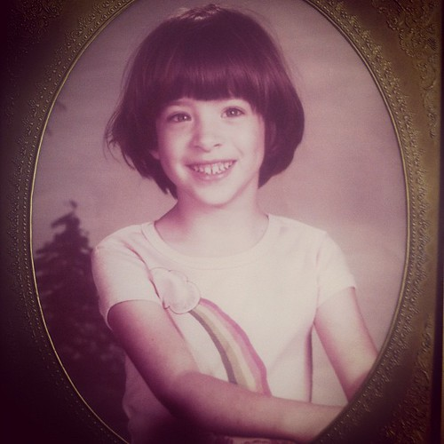Little me, rockin' a bowl haircut...