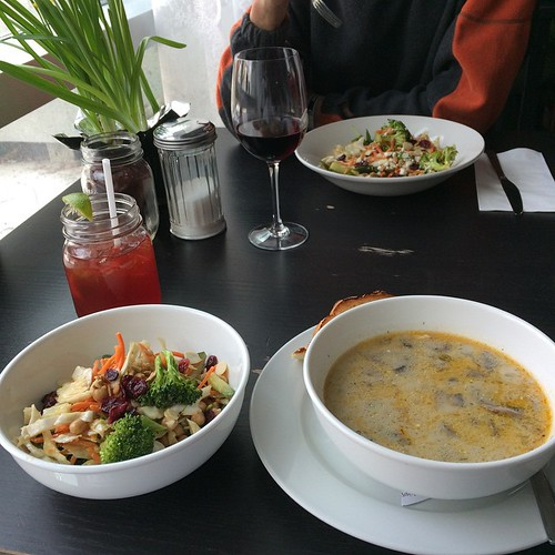 Soup and salads #yegfood