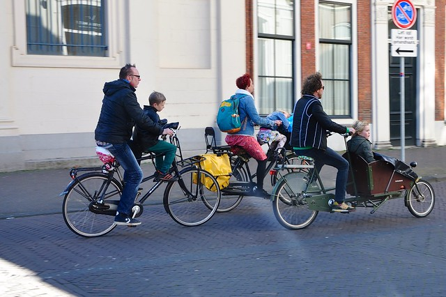 La Haye - Cycling with kids