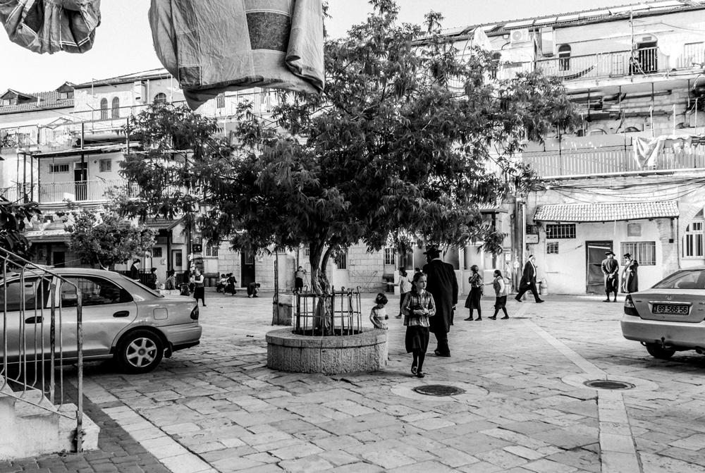 Courtyards of Jerusalem's Mea She'arim neighborhood