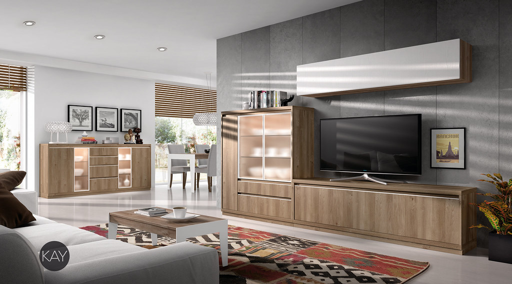 Salon Comedor Moderno KAY - Baixmoduls | Fabrica de mobiliar… | Flickr