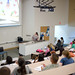 Professor Glanc presents a video on phobias in her General Psychology class.