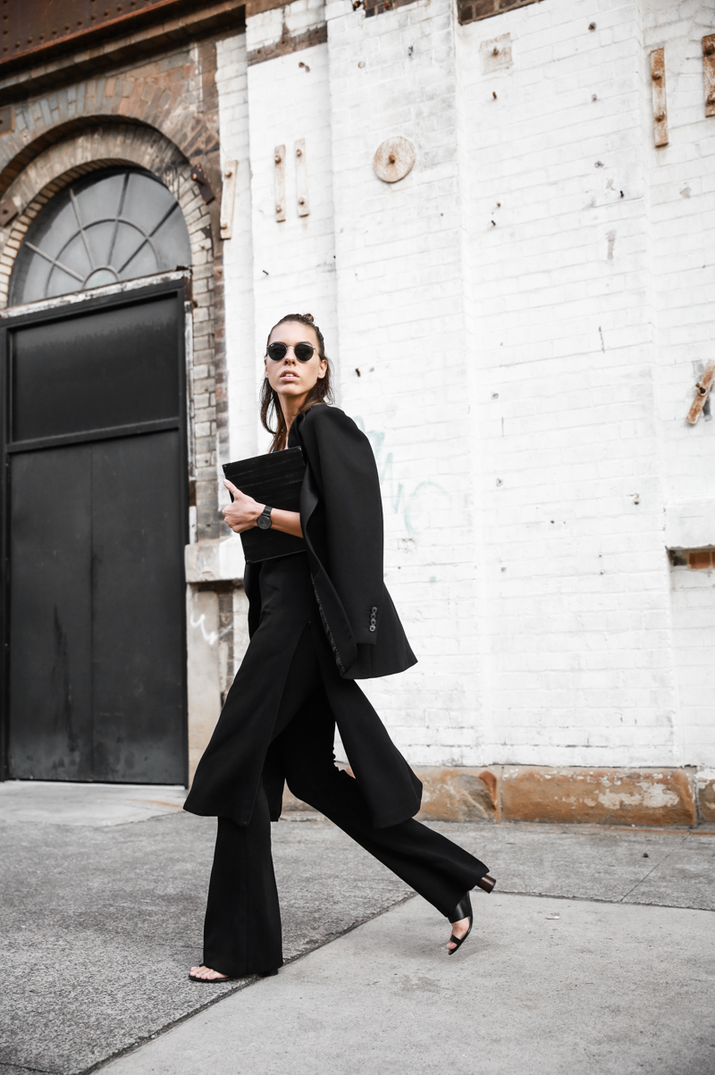 modern legacy fashion blog street style all black fashion week flares Proenza Schouler mules (1 of 1)