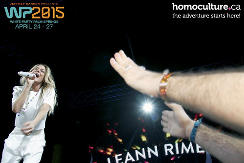 HomoCulture.ca posted a photo:	LeAnn Rimes performing at White Party Palm Springs 2015
